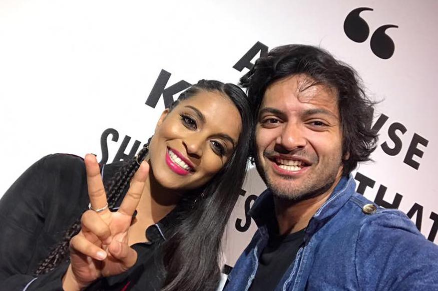 Ali Fazal Meets Lilly Singh, Baseball Legends in Los Angeles