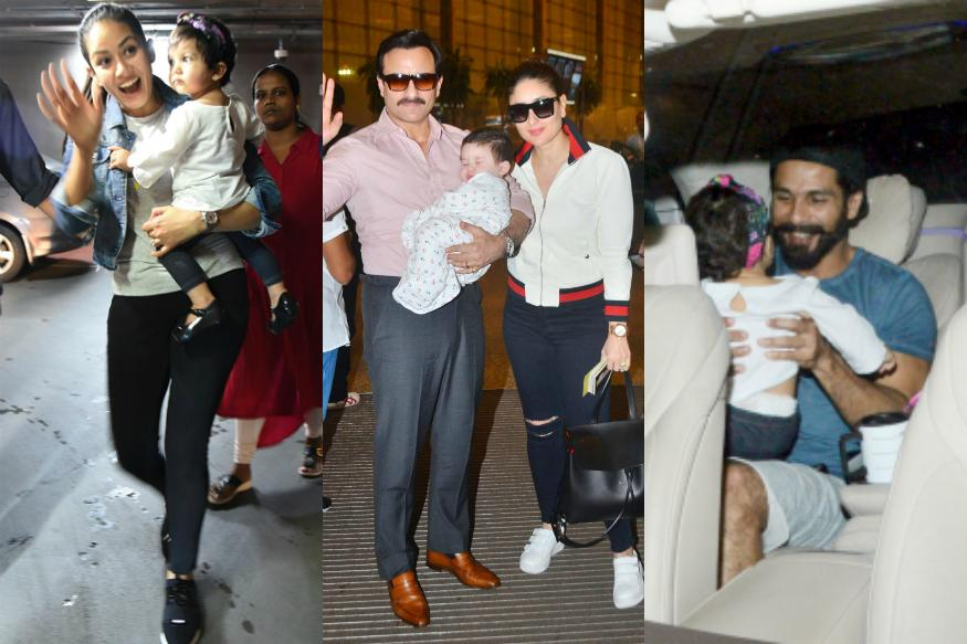 Taimur Ali Khan, Misha Steal the Spotlight From Their Parents at Airport