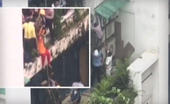 Daring Rescue Ops As Fire Breaks Out At Kolkata's Multi-Storied Office Complex