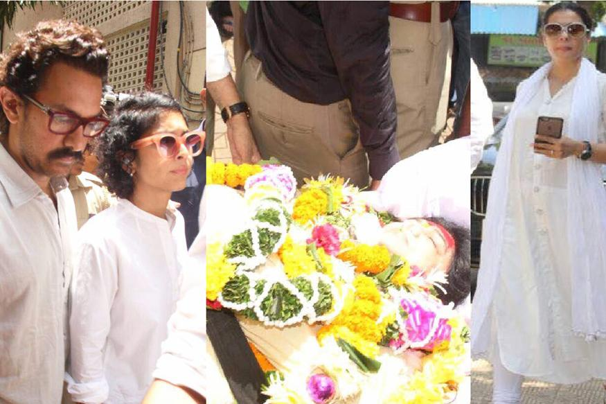 Reema Lagoo's Funeral: Aamir Khan, Kiran Rao, Kajol And Other Actors Pay Last Respects