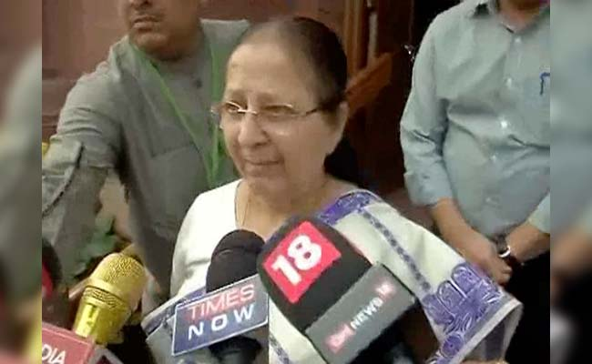 Can't Initiate Action Against Shiv Sena MP For Assault, Says Speaker Sumitra Mahajan